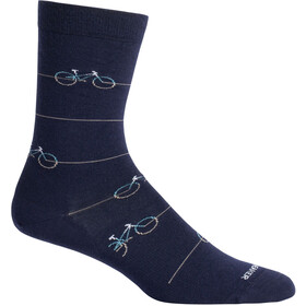 Icebreaker Lifestyle Fine Gauge Cadence Crew-Cut Socken midnight navy